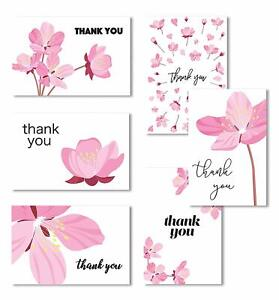 Cavepop Floral Thank You Cards with Envelopes - 36 Assortment