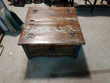Dual Lift Top Coffee Table with Metal Accents & Hasp - Reclaim Wood