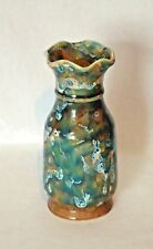 Lovely Vintage Mid-Century Chinese Pottery Vase *Beautiful Glaze Green & Browns