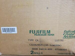 "FUJIFILM FUJICOLOR PAPER TYPE CA 12"" x 295' LUSTRE 2 ROLLS FACTORY SEALED NEW"