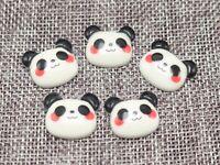 25 Flatback Resin Cute Panda Head Cabochon 20X18mm Scrapbooking Craft DIY