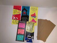 (5) Vintage American Greetings Cards Corp Hi Brows Adult Humor Greeting Cards
