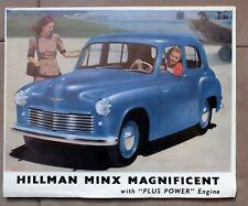 HILLMAN MINX MAGNIFICENT ca. 1950 PROSPEKT BROCHURE PROSPECTUS english
