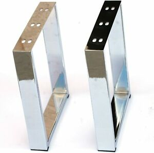 Chrome Metal Furniture Legs for Coffee Table Bench Cabinet 2PC Modern Value