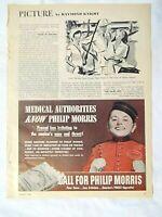 1944 Magazine Advertisement Page Philip Morris Cigarettes Bellhop Boy Sign Ad