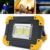 20W LED COB Emergency Work Light USB Rechargeable Searchlight Flood Lamp Outdoor
