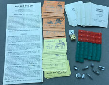 Vtg Monopoly Replacement Pieces Pawns Hotels Houses Deeds Chance Instruction