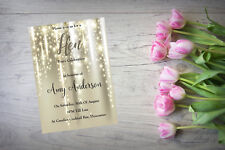 Personalised Hen Party Do Night Invite Invitation X 10 Gold Effect HP30