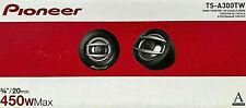 "Pioneer TSA300TW 450 Watt A-Series 3/4"" Hard Dome Tweeters Pair  NEW"
