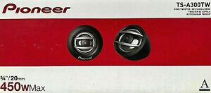 "Pioneer TS-A300TW 450 Watt A-Series 3/4"" Hard Dome Tweeters Pair  NEW"