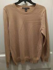 McDuff Essentials mens camel cashmere crewneck sweater XL