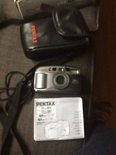 Pentax Iqzoom Ezy-80 35mm Date Camera With Case B7
