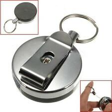"Gift Idea Metal Pull Reel Key Chain Keychain w 27"" Retractable Cable Cord - LD"