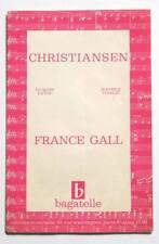 Partition vintage sheet music FRANCE GALL : Christiansen * 60's Datin Vidalin