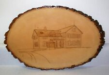 Original Wood Burning Plaque - Cumberworth House - Strongsville Ohio