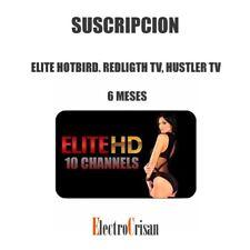 ELITE HOTBIRD. REDLIGTH TV, HUSTLER TV. SUSCRIPCION 6 MESES. ENTREGA 24/48 H
