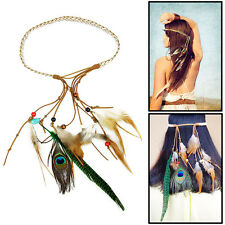 Feather Headdress Hippy Bohemian Chic Head Bands  Festival Party Carnival NEW*