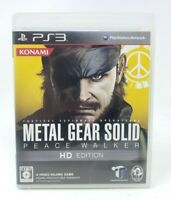 Metal Gear Solid Peace Walker HD Edition Sony PlayStation 3 PS3 Game JP Import