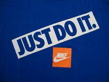 Vintage NEW NOS NIKE Just Do It Gray Tag Blue 50/50 michael jordan era T shirt M