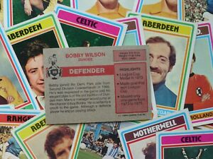 Topps Scottish Football Cards - Red Back (1976) - Complete Your Collection
