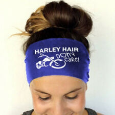 Womens Blue Sports Yoga Sweatband Gym Stretch Headband Hair Band Accessories