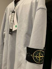 Stone Island Ice Blue V Neck Sweater