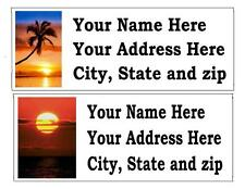 30  AWESOME SUNSET RETURN ADDRESS LABELS MANY CHOICES