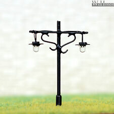 5 x N Scale Led light Model train Railroad street Lamp post + resistors #R34NDBL