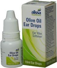 Olive Oil (10 ml) Ear Drops Softens Removes Ear Wax