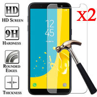 2X Tempered Glass Screen Protector For Samsung Galaxy J3 J5 J7 Pro J4 J6 J8 Plus