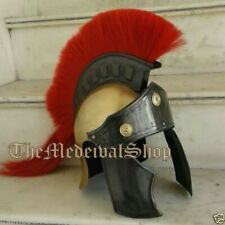 Medieval Roman Spartan Armour Helmet W/Red Plume Historical Without Wooden Stand