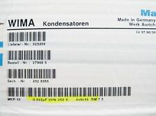1700 x 0,022uf 22nF 250vdc WIMA mkp-10 Folios Condensador originalpack #16# 2f2