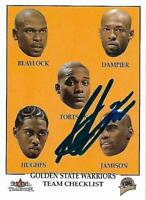 Antawn Jamison Signed Auto 2001 Fleer Tradition Golden State Warriors Card - COA