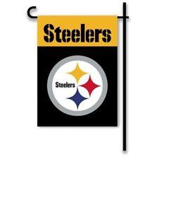 NFL PITTSBURGH STEELERS TEAM GARDEN FLAG 13 X 18