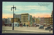 Postcard written 1929 UNITED STATES The NEW YORK Entrance to the Holland Tubes