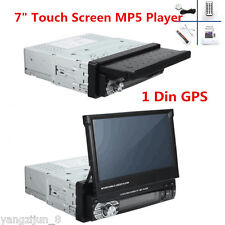 7'' HD Bluetooth Touch Screen Car Stereo Radio 1 DIN FM/MP5/MP3/USB/AUX With GPS