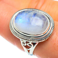 Rainbow Moonstone 925 Sterling Silver Ring Size 8 Ana Co Jewelry R44102F
