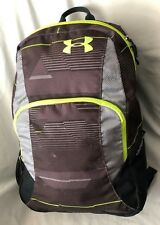 "Purple 6X12X17"" UNDER ARMOUR Backpack Purse Handbag with 5 Openings"