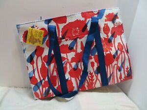 BLUE Q  Flower  Shower Shoppers Tote Shoulder Bag New Re-Usable Fashion Recycled