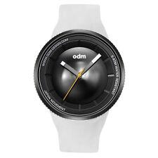 """ODM """"Focus Camera AE-1"""" Quarzo Acciaio IP Nero Silicone Bianco Orologio Unisex"""