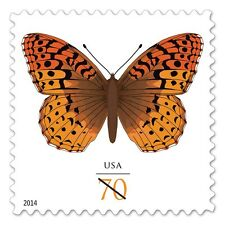 2014 70c Great Spangled Fritillary Butterfly Scott 4859 Mint F/VF NH