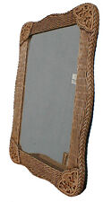 Antique Brown Monte Carlo Cane/Wicker/Rattan Mirror