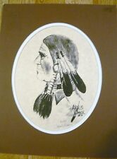 Southwest Aaron B. Conner Indian Print Signed Picture Art  40/550. 1989