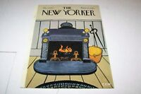 DEC 10 1973 NEW YORKER magazine cover FIREPLACE