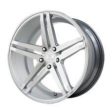 22x10.5 Verde Parallax 5x114.3 +45 Silver/Machined Rims Wheels Brand New (Set)