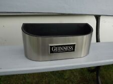 More details for guinness beer bar top stainless steel bottle holder tray ideal man cave / bar