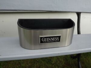 Guinness Beer Bar Top Stainless Steel Bottle Holder Tray Ideal Man Cave / Bar