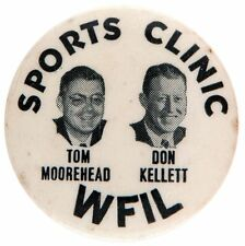 """SPORTS CLINIC WFIL / TOM MOOREHEAD / DON KELLETT"" LATE 1940s SPORTS RADIO ANNOU"