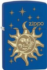 "Zippo ""Sun, Moon and Stars"" Royal Blue Matte Finish Lighter, Full Size, 28791"
