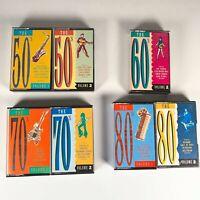 Job-lot 7X Mobil The 50s, 60s, 70s, 80s Album Compilation Hits UK Cassette Tape